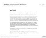 MMP100 – Introduction to Multimedia – Resources for Students & Faculty