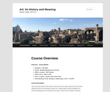 ART 1010 Art: Its History and Meaning (Bleeke)