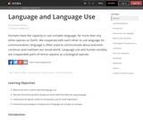 Language and Language Use