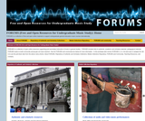 FORUMS (Free and Open Resources for Undergraduate Music Study)