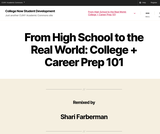 College Now Student Development Course:  College and Career Prep 101