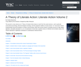 A Theory of Literate Action: Literate Action Volume 2