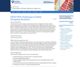 Challenges in Global Geospatial Analytics