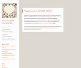 Course Site for COM 1010