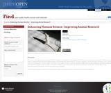 Enhancing Humane Science - Improving Animal Research