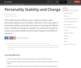 Personal Stabilty and Change