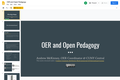 OER and Open Pedagogy