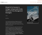 Blueprint for Success in College: Indispensable Study Skills and Time Management Strategies