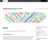 Bioinformatics II Lab