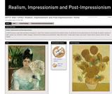 ARTD 3062 GRAD: Realism, Impressionism and Post-Impressionism