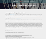 Abstract Algebra II