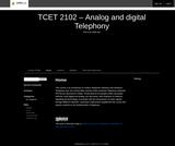 Analog and Digital Telephony