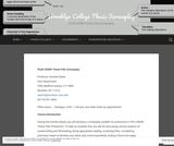 Brooklyn College Thesis Screenplay – FILM 3300W Thesis Film Screenplay